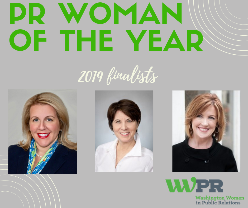 WWPR Announces Finalists For 2019 Washington PR Woman of the Year Award