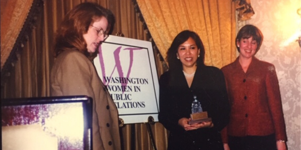 1998 Woman of the Year Award Winner Pattie Yu with colleagues