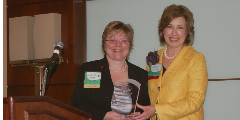 2009 Woman of the Year Award Winner Sarah Temple and Kate Perrin